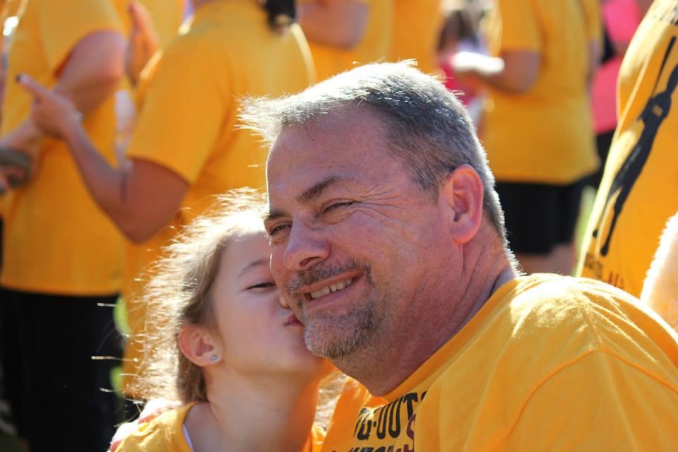 Ashlyn & Papa at Walk