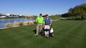 18th tee at Phoenix Open TPC - Chip and Doug