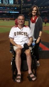 Karen and Doug before Gehrig reading